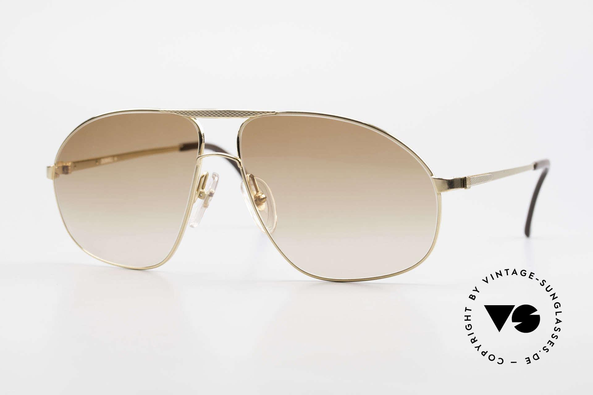 Dunhill 6125 Vergoldete Piloten Brille 90er, premium vintage A. Dunhill Sonnenbrille von 1990, Passend für Herren