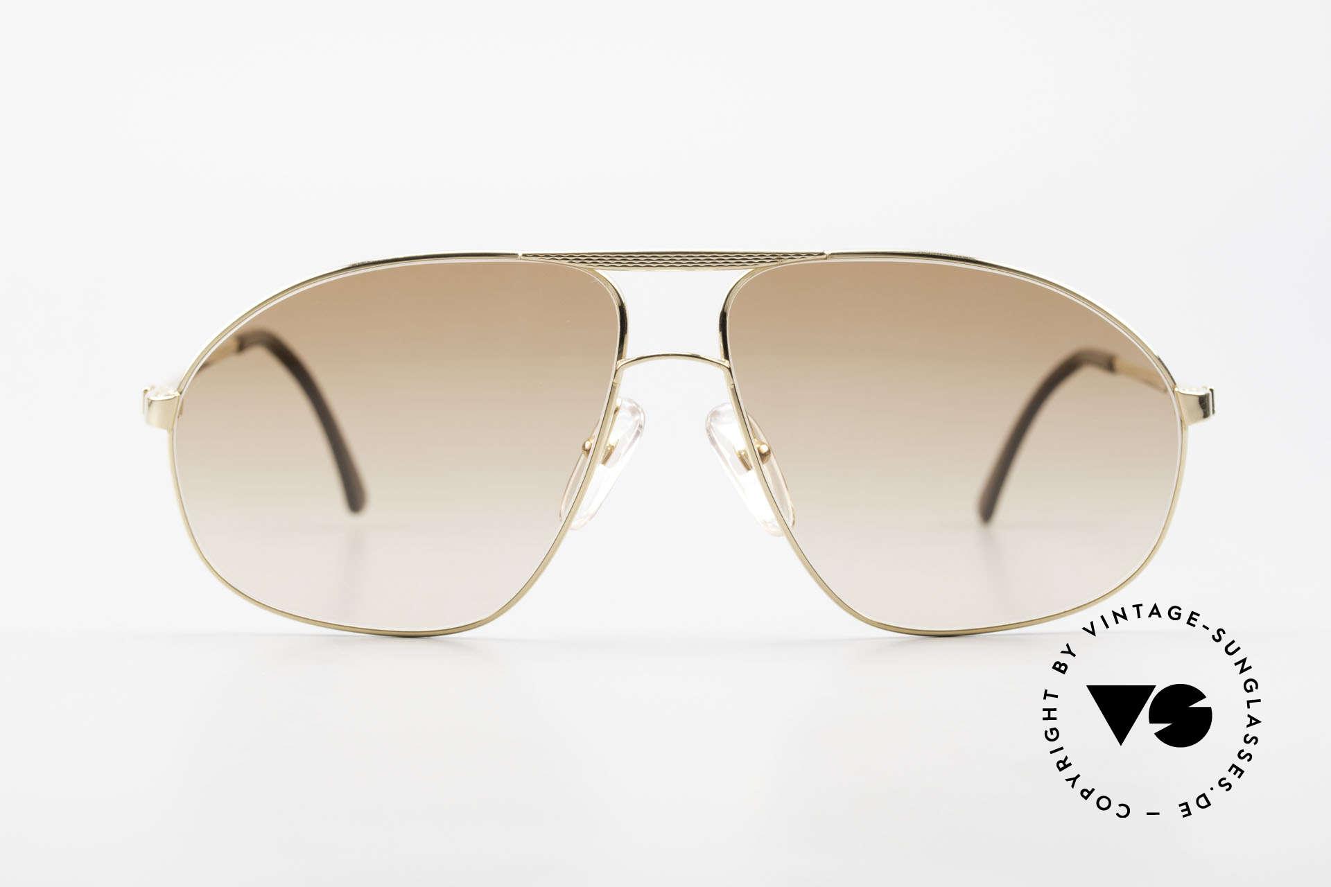 Dunhill 6125 Vergoldete Piloten Brille 90er, die absolute Speerspitze in Sachen Brillen-Qualität, Passend für Herren