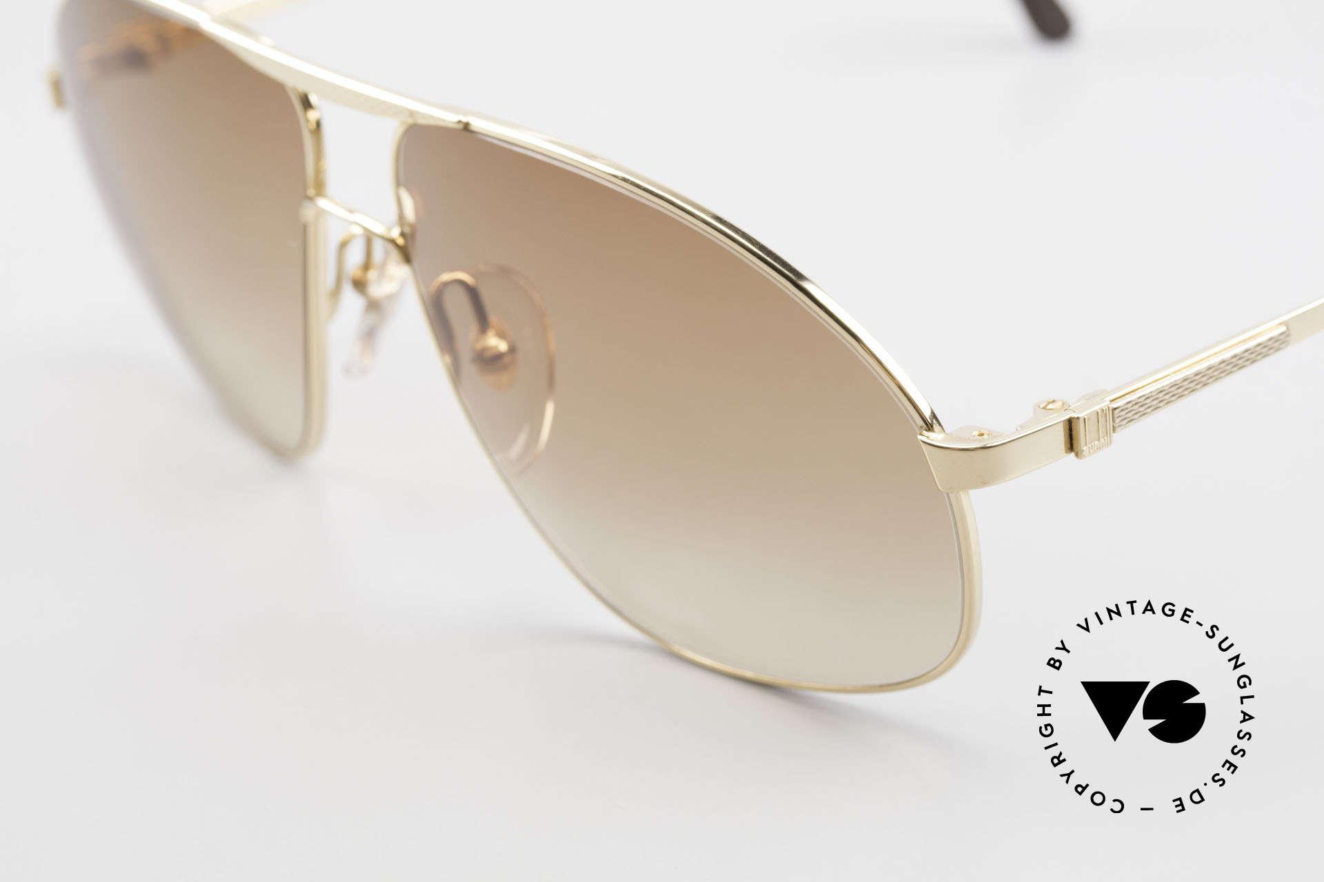 Dunhill 6125 Vergoldete Piloten Brille 90er, distinguiert kultiviert: ein wahres Gentleman Modell, Passend für Herren