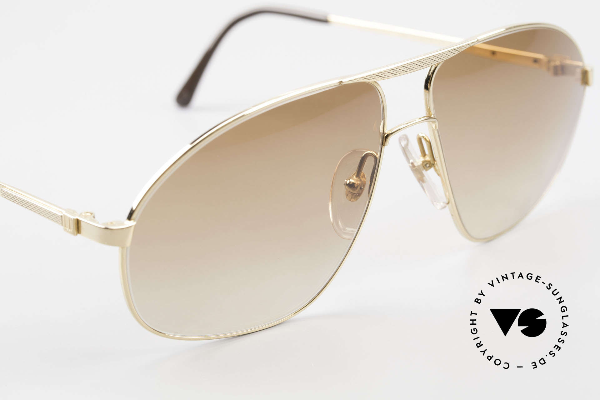 Dunhill 6125 Vergoldete Piloten Brille 90er, ungetragen (wie alle unsere vintage Dunhill Brillen), Passend für Herren