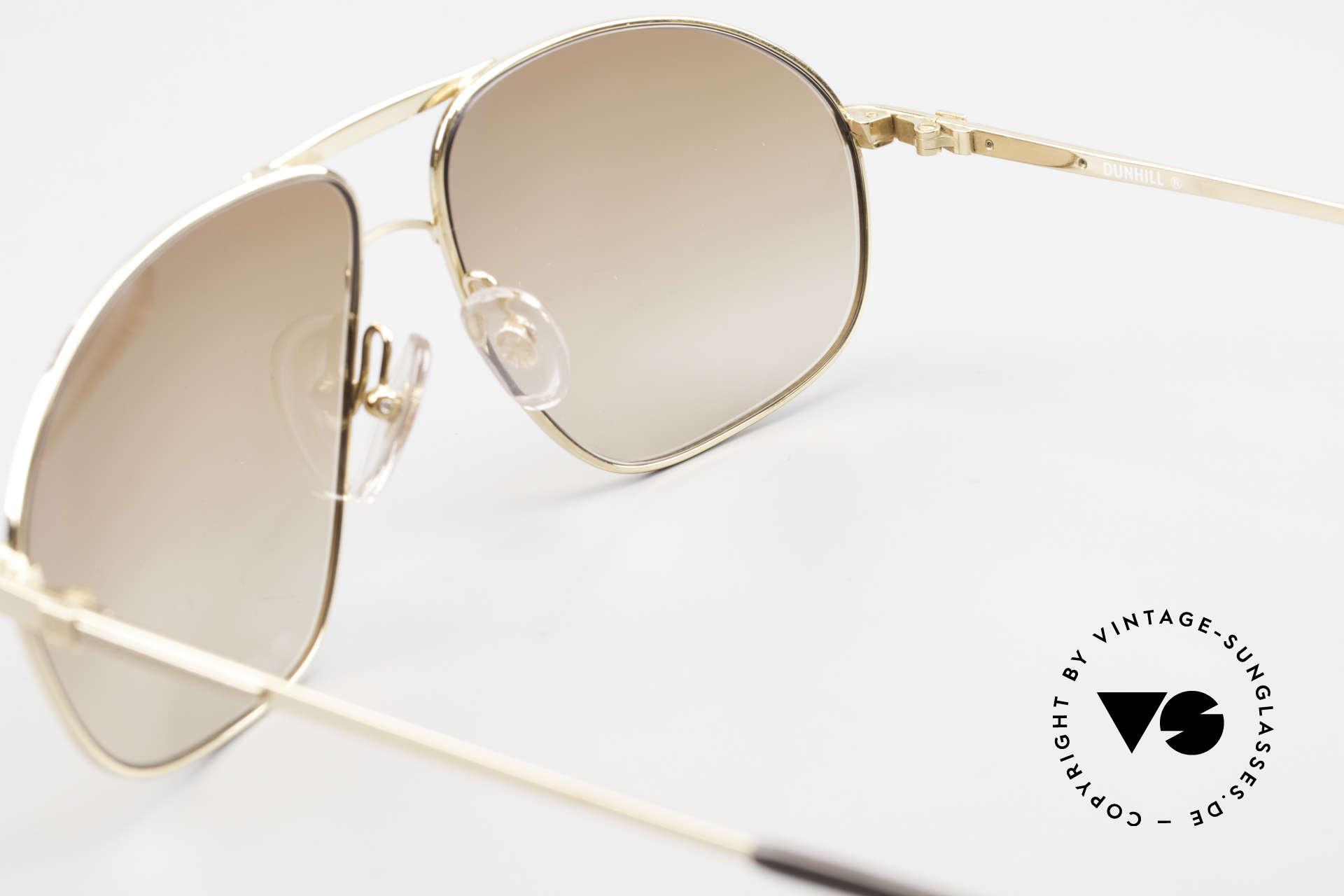 Dunhill 6125 Vergoldete Piloten Brille 90er, KEIN RETRO, sondern ein kostbares altes ORIGINAL, Passend für Herren