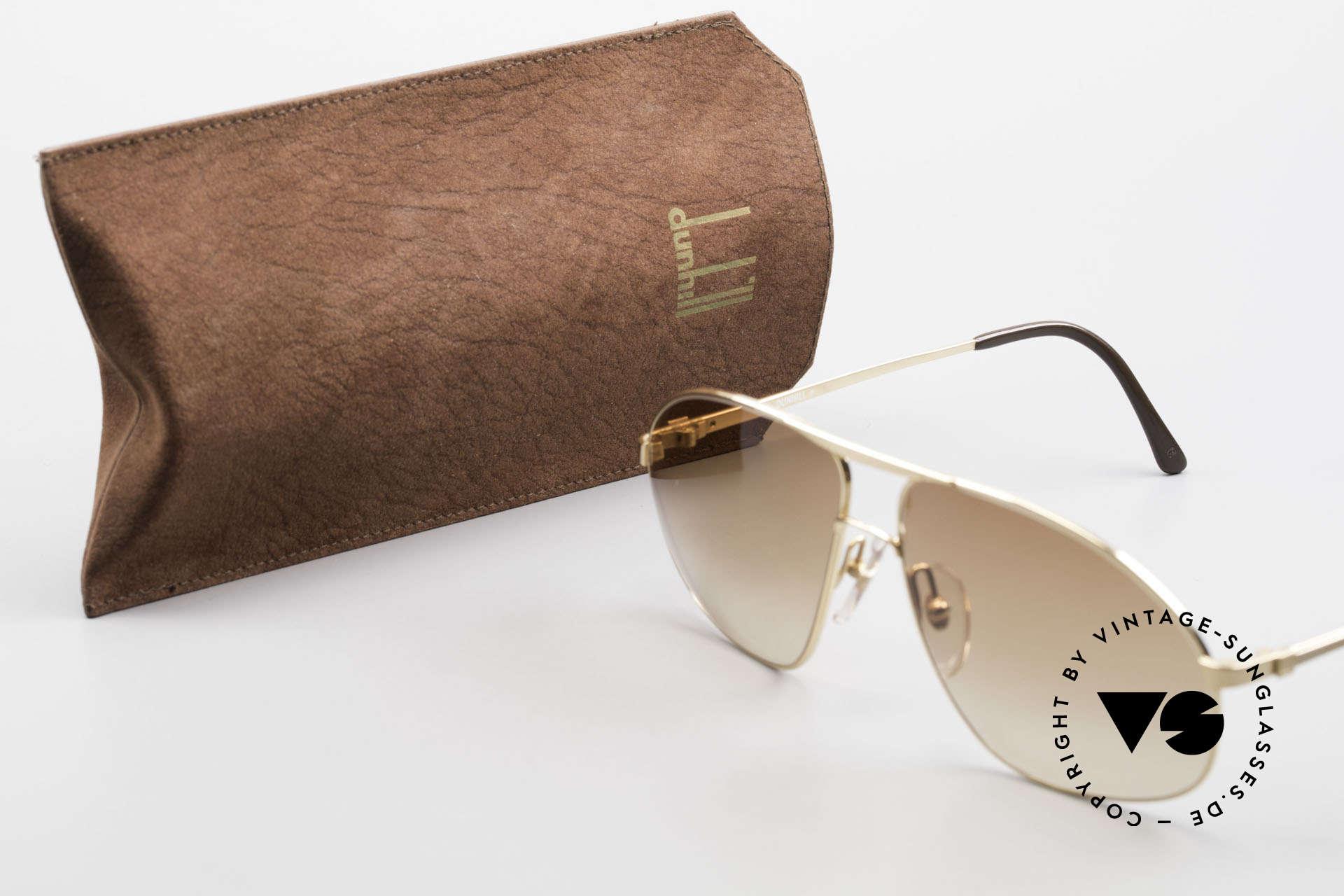 Dunhill 6125 Vergoldete Piloten Brille 90er, Größe: medium, Passend für Herren