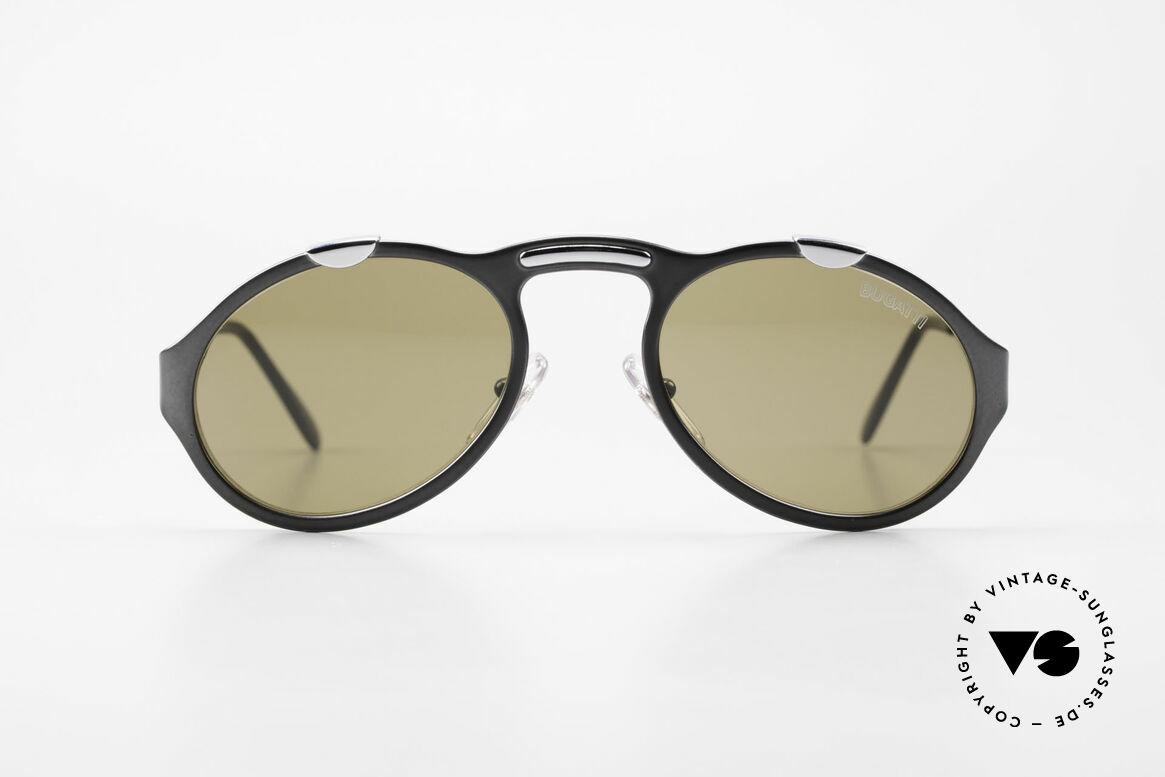Bugatti 13152 Limited Luxus Vintage Sonnenbrille, limitierte Sonderedition mit Bugatti-Schriftzug auf Glas, Passend für Herren