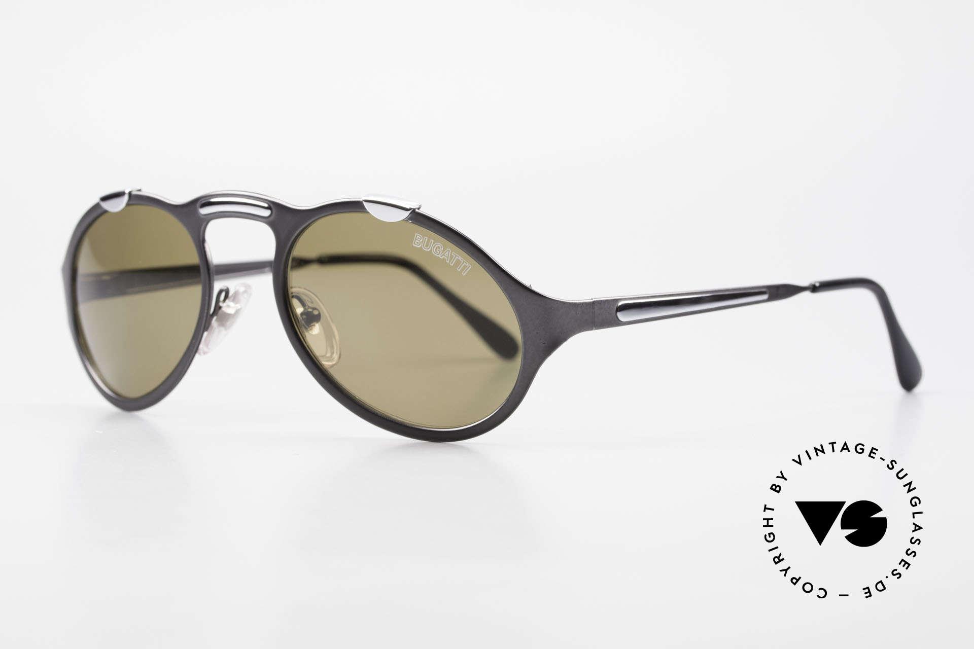 Bugatti 13152 Limited Luxus Vintage Sonnenbrille, Mitte der 90er J. in Frankreich produziert; Top-Qualität, Passend für Herren