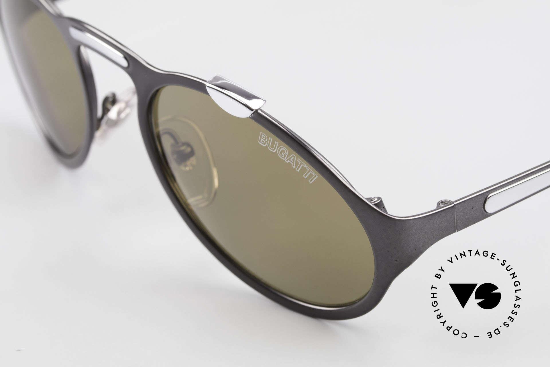 Bugatti 13152 Limited Luxus Vintage Sonnenbrille, hoher Tragekomfort und Luxus pur! Muss man(n) fühlen!, Passend für Herren