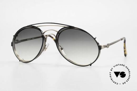 Bugatti 07823 Alte 80er Brille mit Clip On Details
