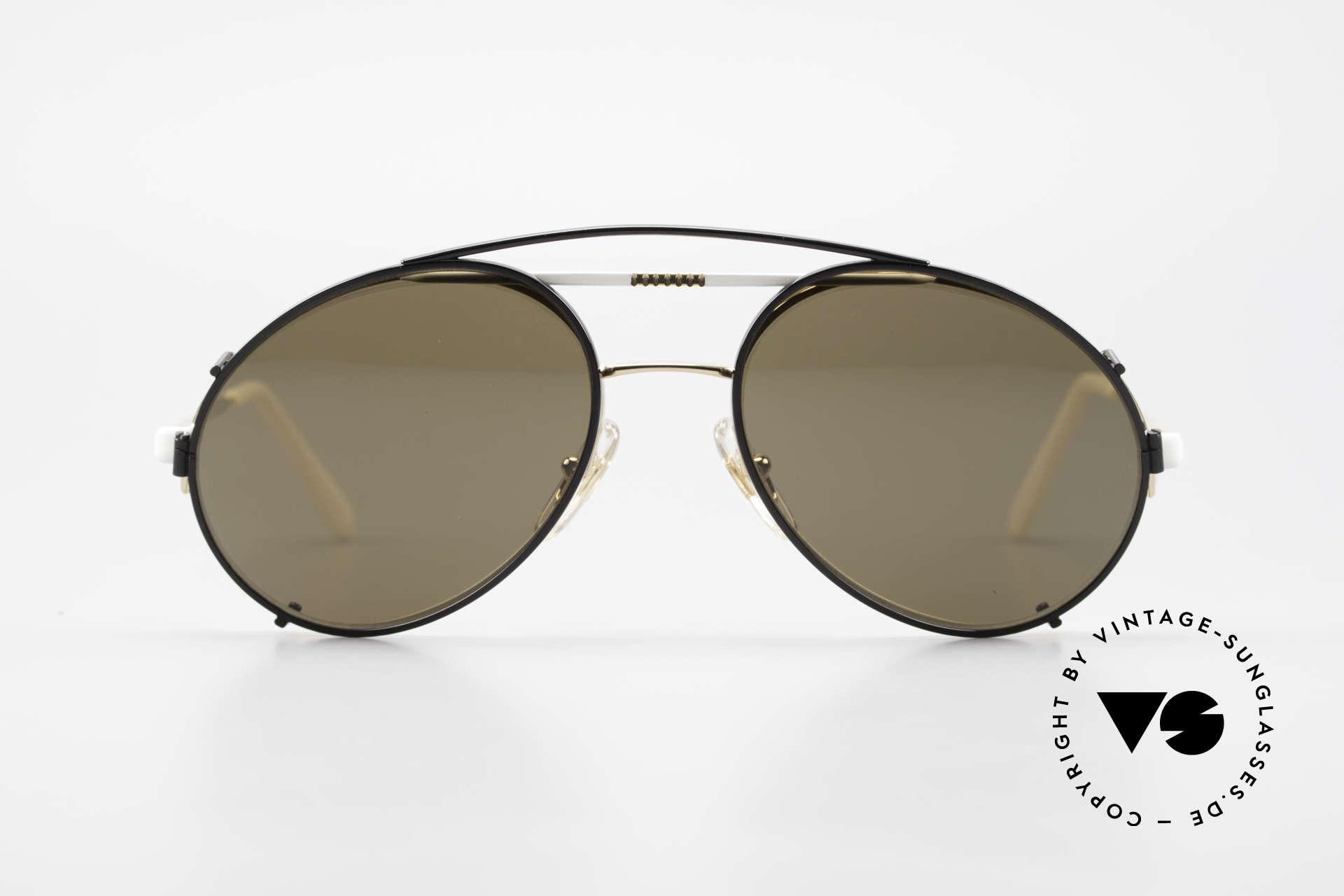 Bugatti 65787 Halb Randlose Brille Mit Clip, die Fassung ist halb randlos (mit Nylor Faden), Passend für Herren