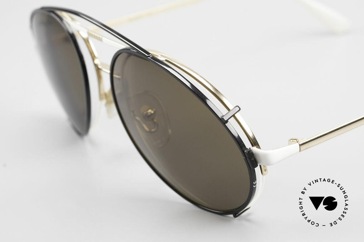 Bugatti 65787 Halb Randlose Brille Mit Clip, höchste Qualität und Passform (made in France), Passend für Herren