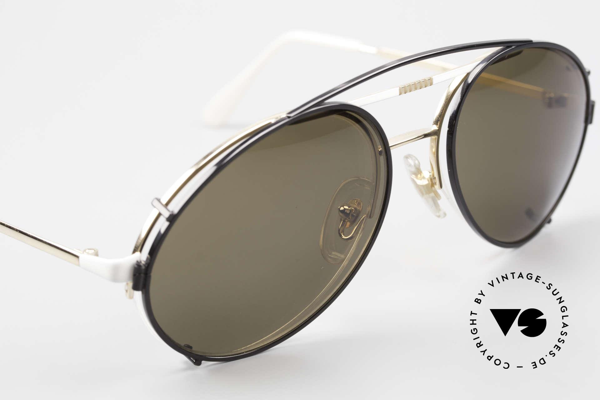 Bugatti 65787 Halb Randlose Brille Mit Clip, ungetragen (wie alle unsere alten Bugatti Brillen), Passend für Herren