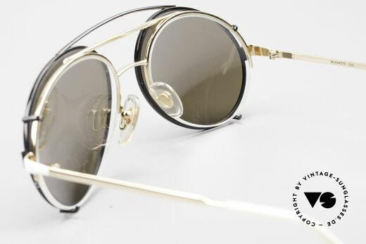 Bugatti 65787 Halb Randlose Brille Mit Clip, ein Original, direkt aus den 80ern - KEIN RETRO, Passend für Herren