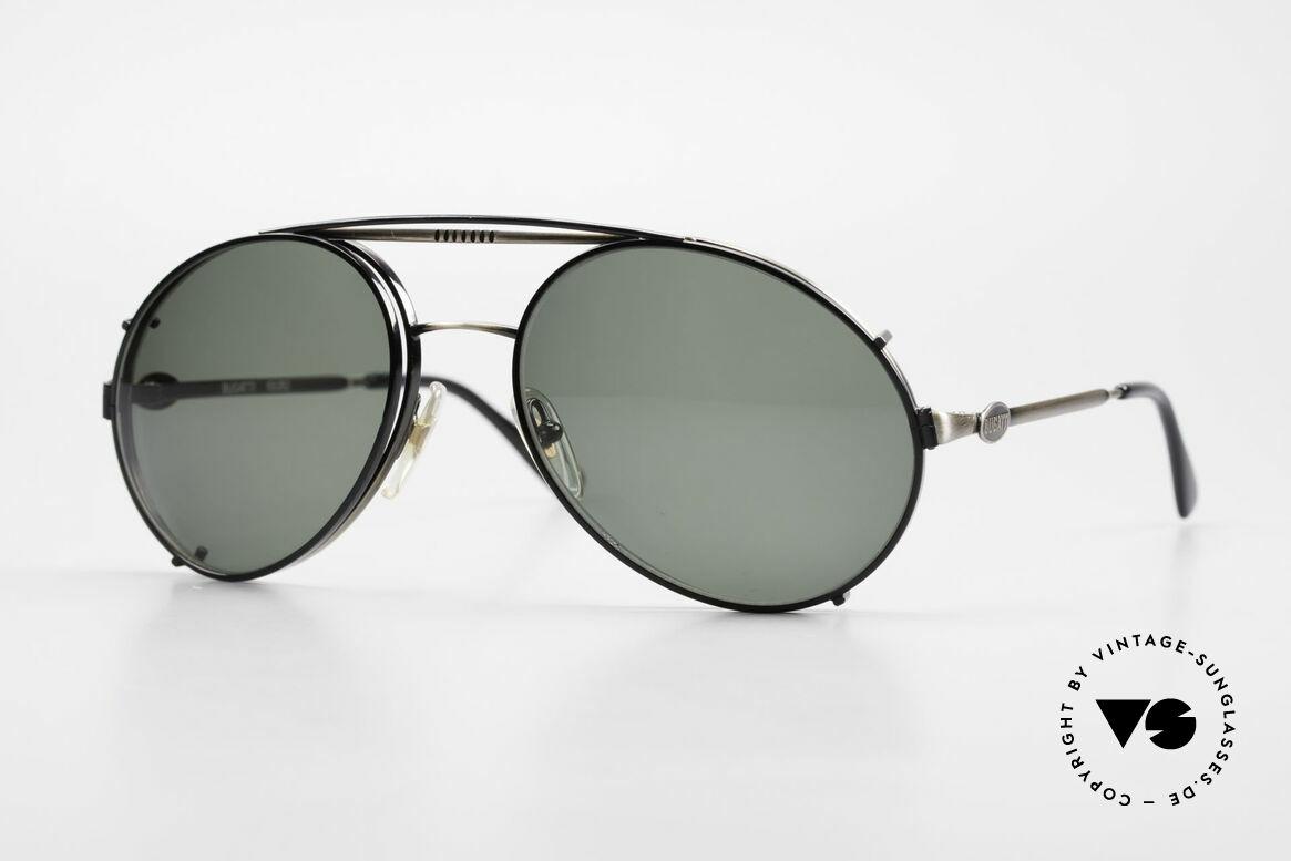 Bugatti 65282 Vintage Herren Brille 1980er, rare VINTAGE Bugatti 80er Luxus-Sonnenbrille, Passend für Herren