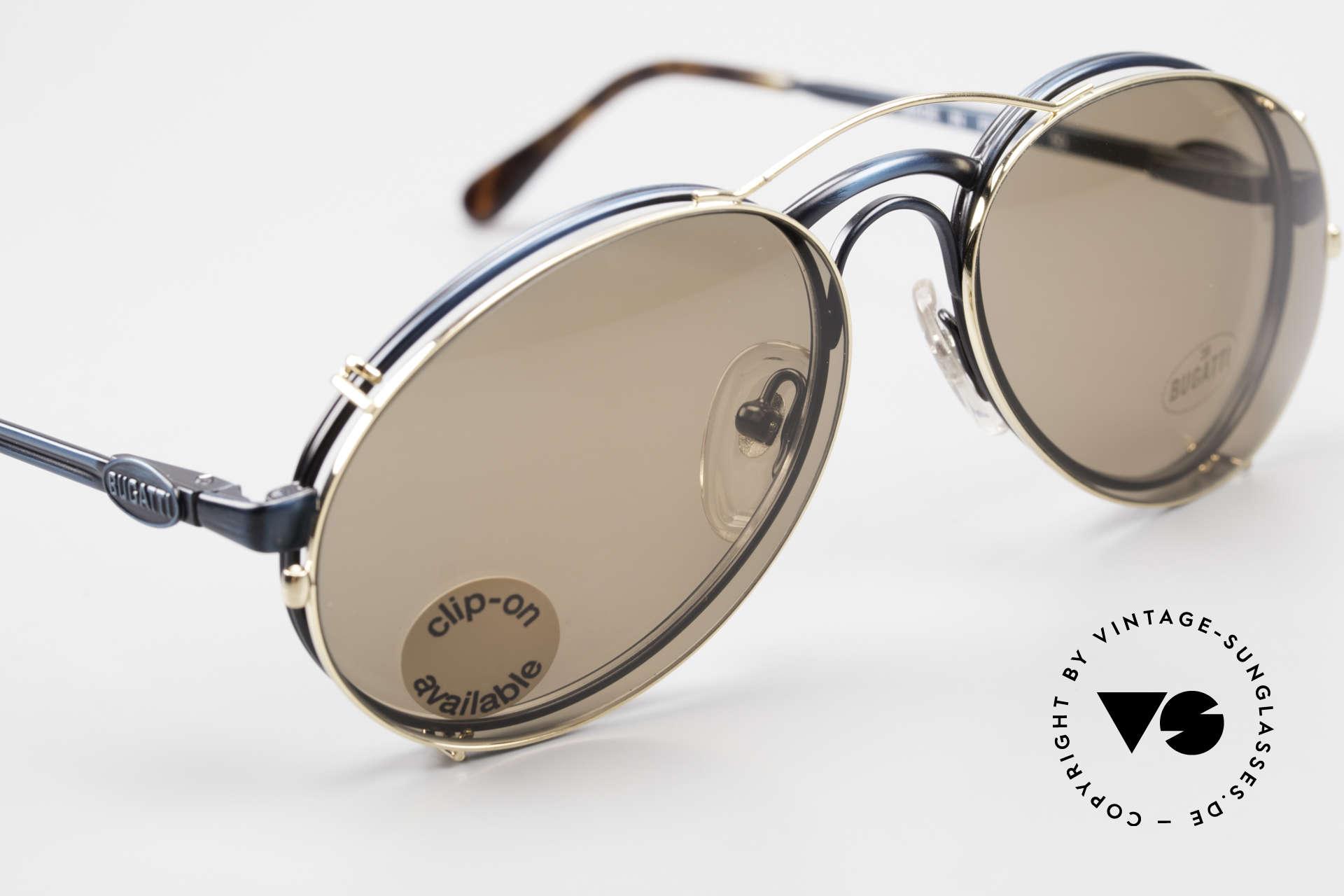 Bugatti 03328 Clip On Herrensonnenbrille, KEINE RETROmode; sondern ein altes 80er ORIGINAL, Passend für Herren
