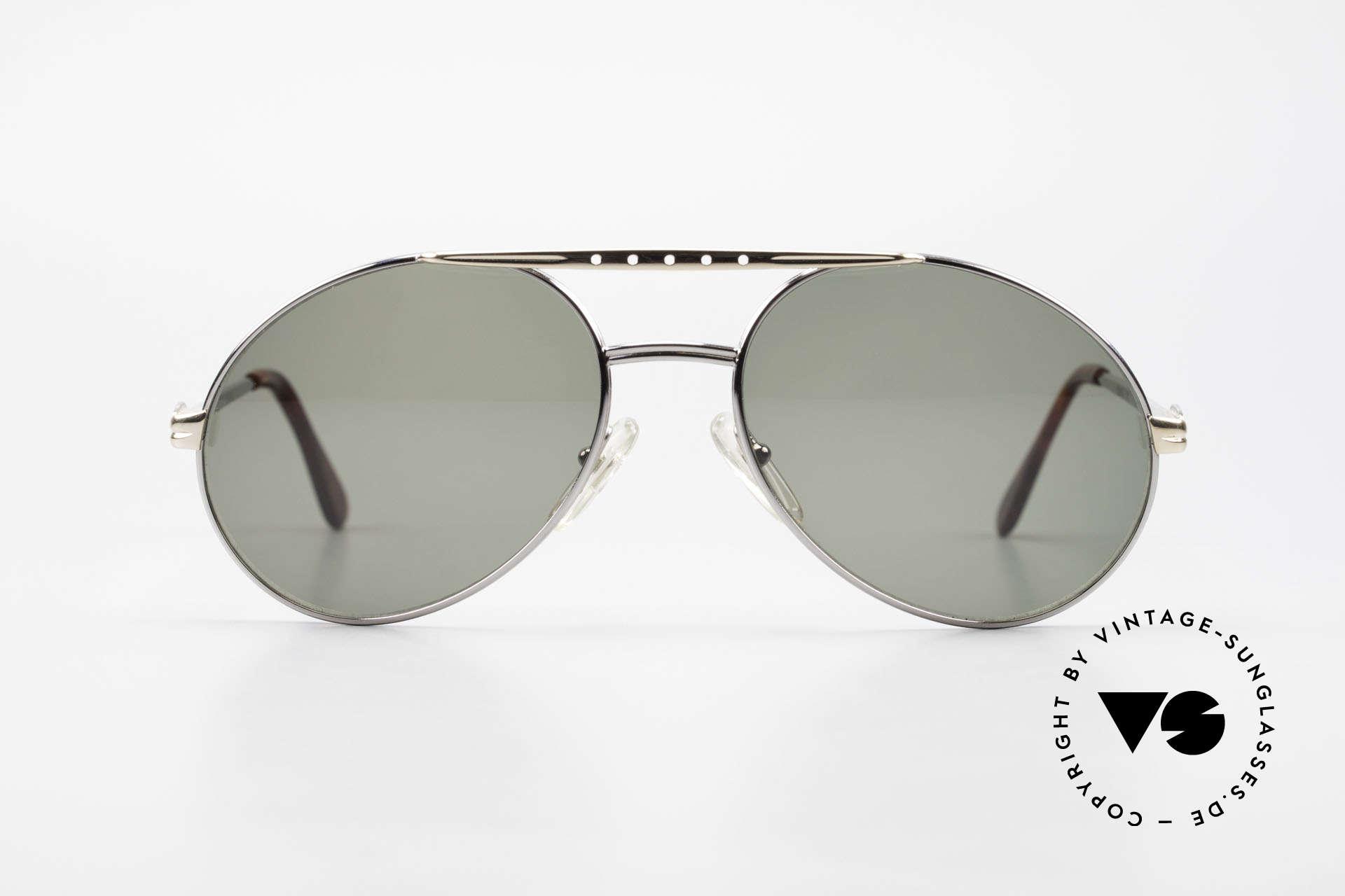 Bugatti 02926 80er Large Sonnenbrille Herren, circa Ende der 1980er Jahre in Frankreich produziert, Passend für Herren