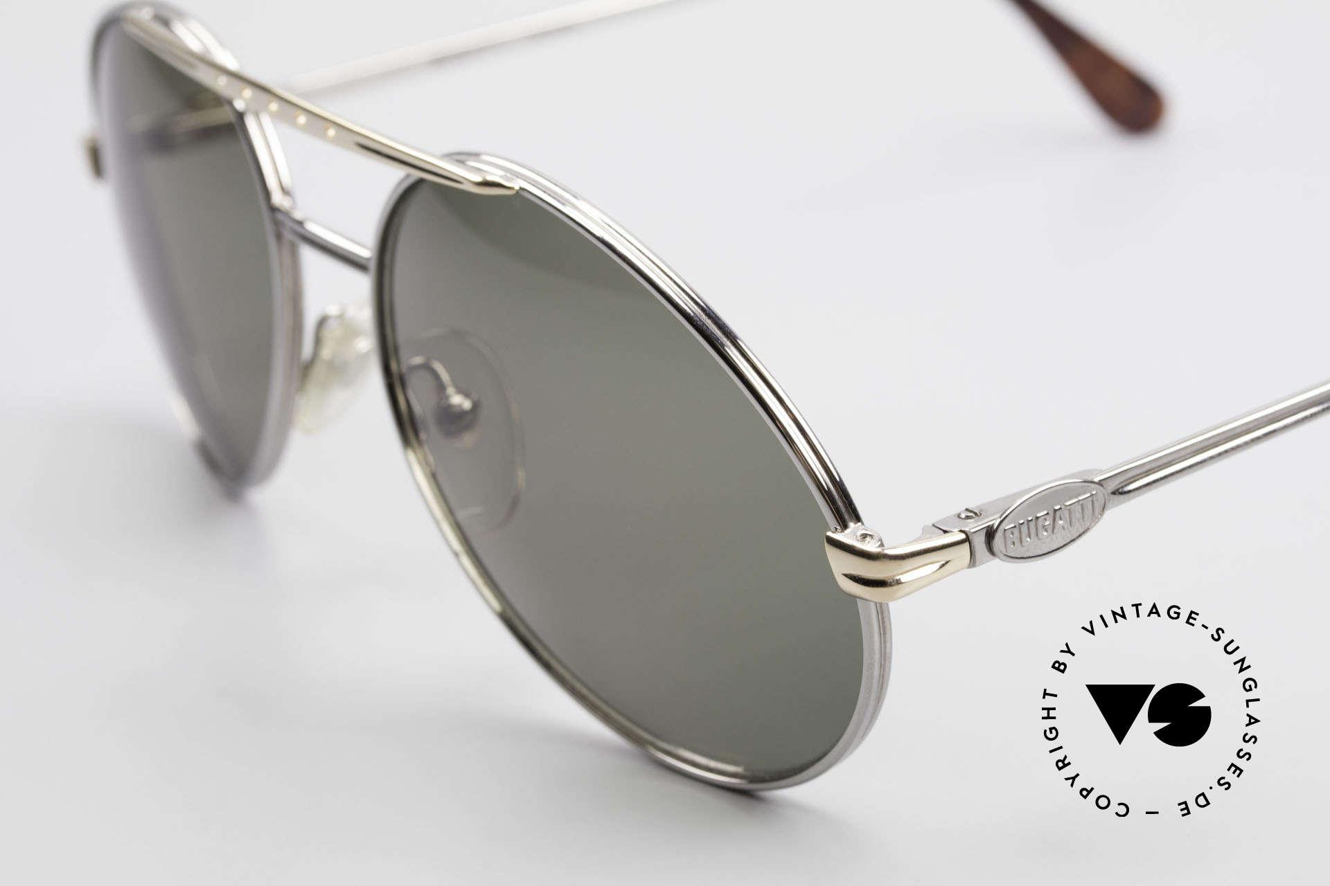 Bugatti 02926 80er Large Sonnenbrille Herren, beste Materialien in Top-Verarbeitung (Federgelenke), Passend für Herren
