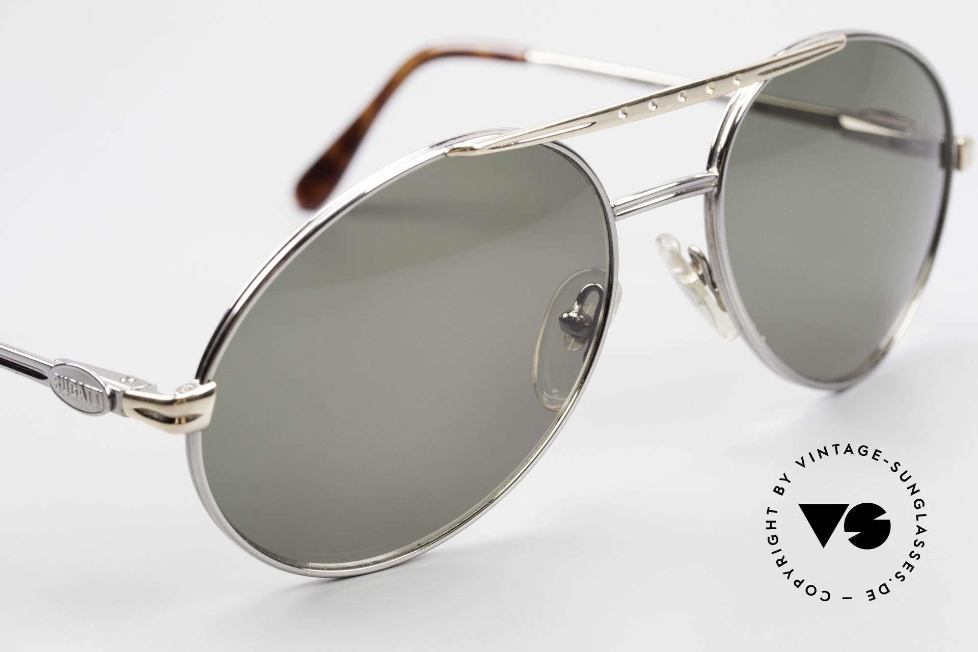 Bugatti 02926 80er Large Sonnenbrille Herren, ungetragen inkl. Etui (wie alle unsere Bugatti Brillen), Passend für Herren