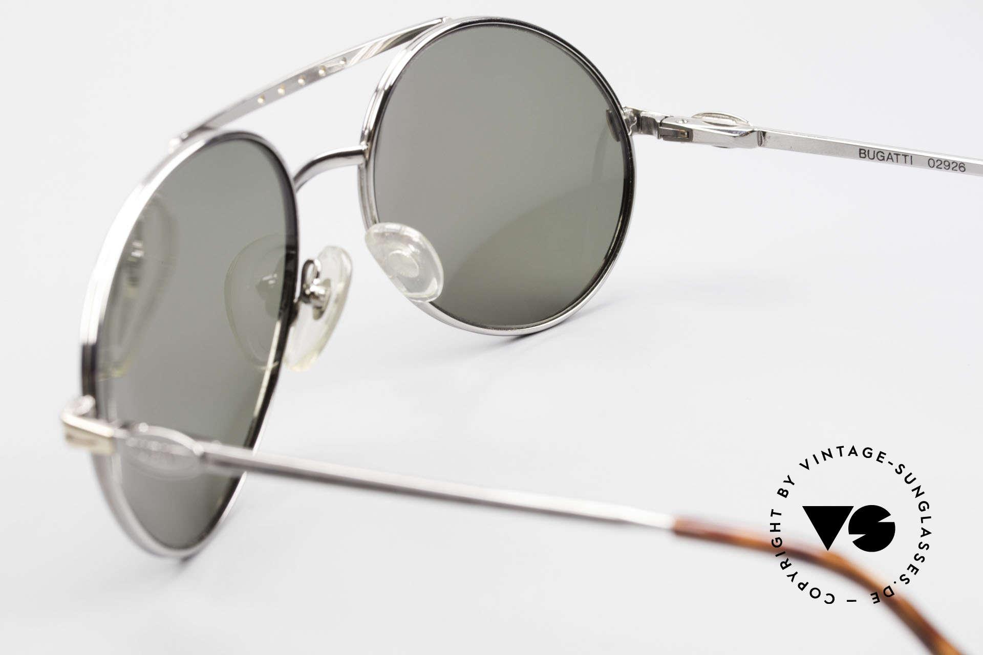 Bugatti 02926 80er Large Sonnenbrille Herren, KEINE Retromode, sondern ein kostbares altes Original, Passend für Herren