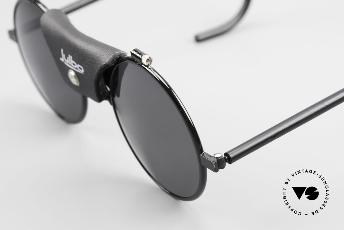 Julbo Vermont Runde Sport Sonnenbrille 90er, dunkelgraue Sonnengläser für sehr hohe Lichtintensität, Passend für Herren