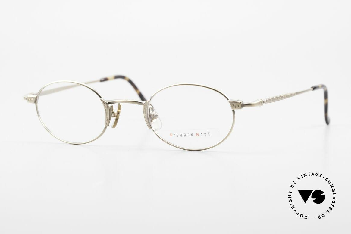 Freudenhaus Zaki Ovale Titan Vintage Brille, vintage Brillenfassung von FREUDENHAUS, München, Passend für Herren und Damen
