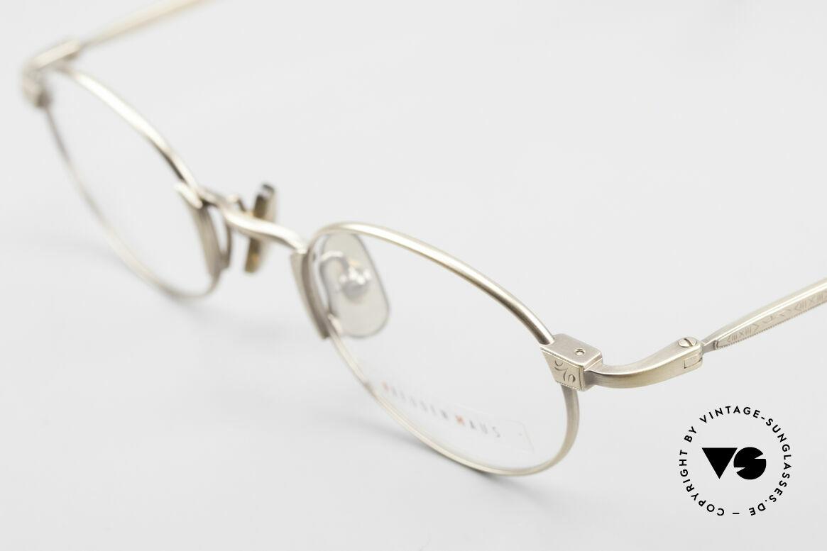 Freudenhaus Zaki Ovale Titan Vintage Brille, ungetragen (wie alle unsere vintage Designerbrillen), Passend für Herren und Damen