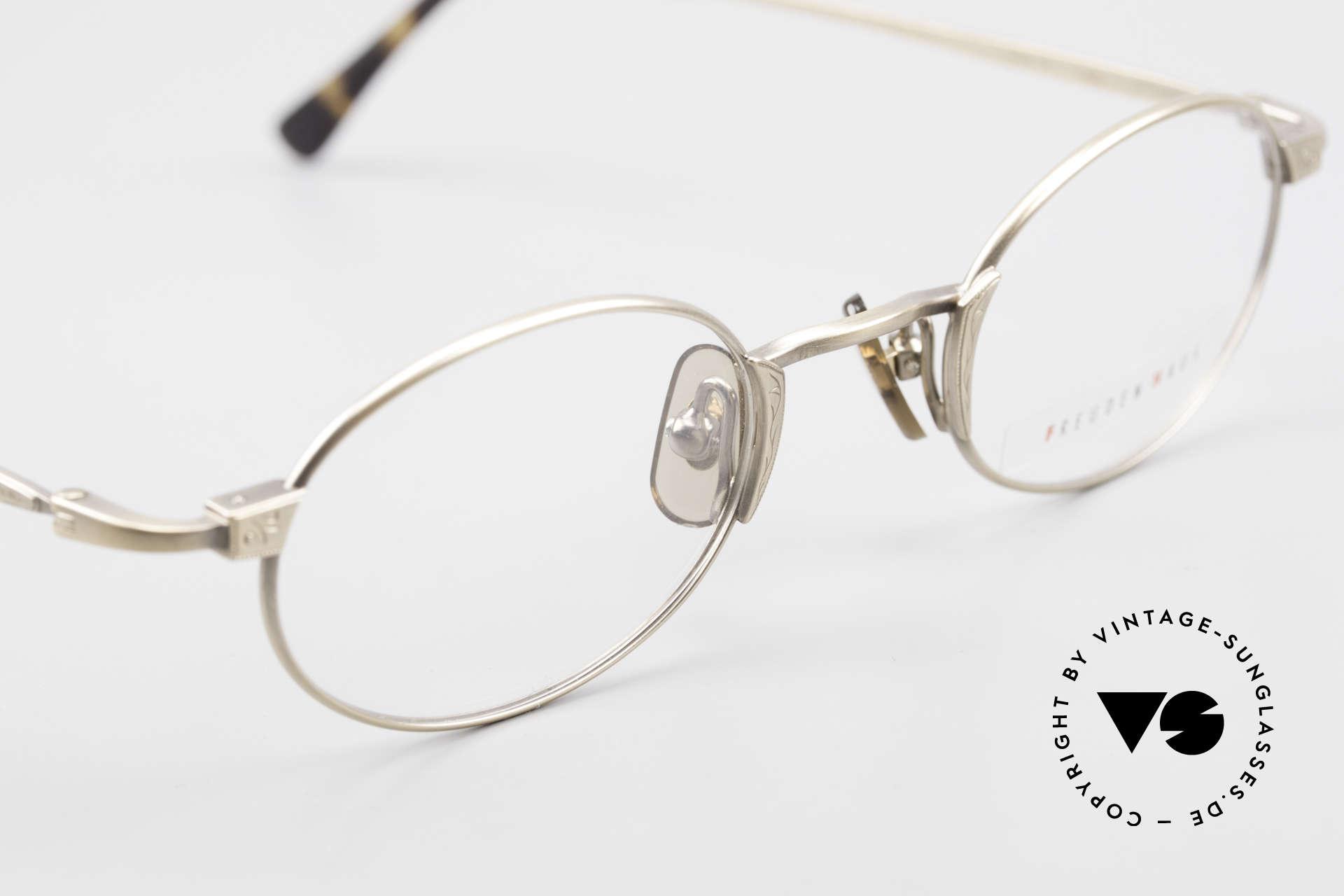 Freudenhaus Zaki Ovale Titan Vintage Brille, KEINE Retromode, ein kostbares 90er Jahre Original!, Passend für Herren und Damen