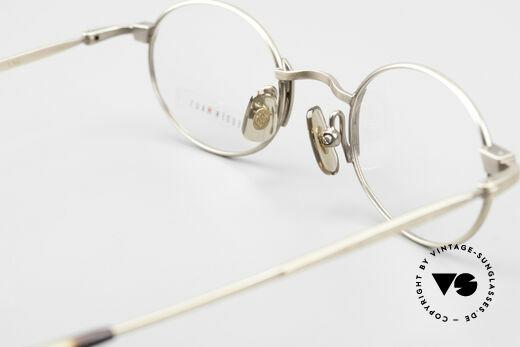 Freudenhaus Zaki Ovale Titan Vintage Brille, Größe: medium, Passend für Herren und Damen