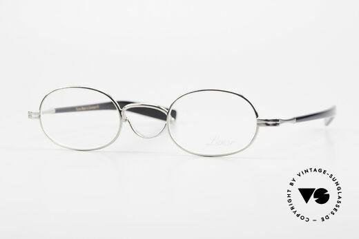 Lunor Swing A 36 Oval Vintage Brille Mit Schwenksteg Details