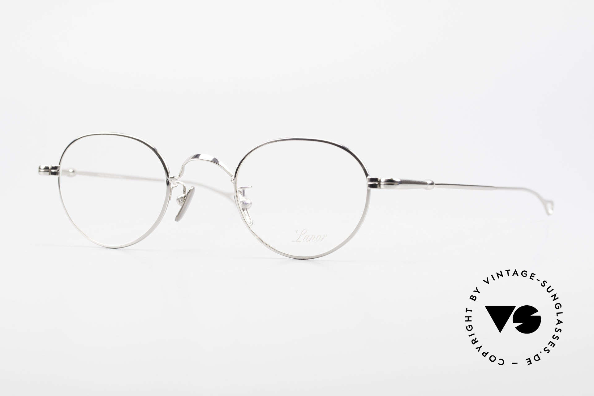 Lunor V 107 Pantobrille Herren Titanium, LUNOR = ehrliches Handwerk mit Liebe zum Detail, Passend für Herren