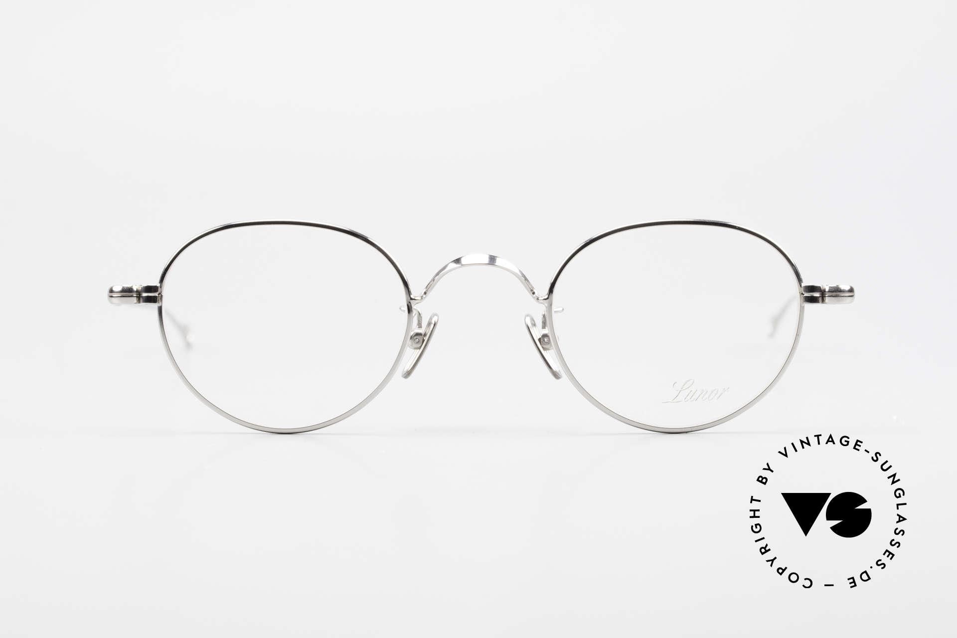 Lunor V 107 Pantobrille Herren Titanium, ohne große Logos; stattdessen mit zeitloser Eleganz, Passend für Herren
