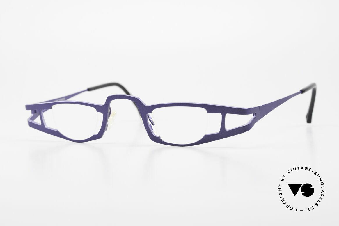 Theo Belgium Eye-Witness KO Pure Titanium Lesebrille, Theo Belgium: die eigenwilligste Brillenmarke, weltweit, Passend für Damen