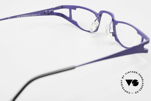 Theo Belgium Eye-Witness KO Pure Titanium Lesebrille, sozusagen: vintage Brillenfassung mit Symbol-Charakter, Passend für Damen