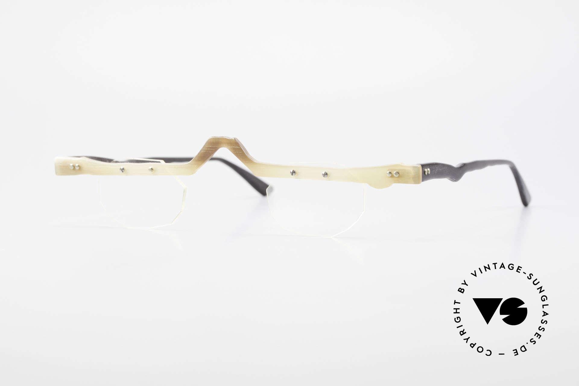 Theo Belgium Eye-Witness ACR Avantgarde Brille aus Horn, Theo Belgium: die eigenwilligste Brillenmarke, weltweit, Passend für Herren und Damen