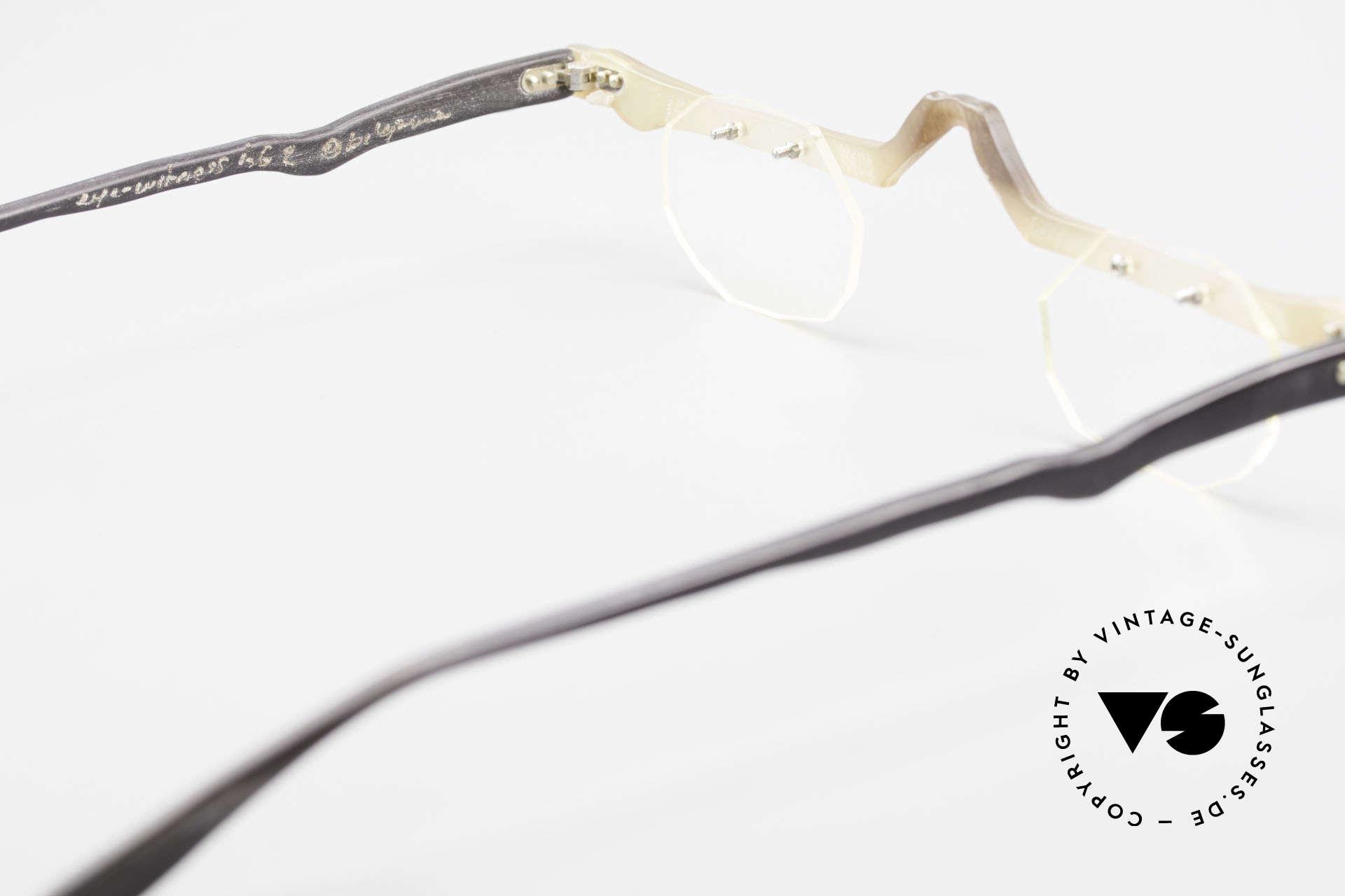 Theo Belgium Eye-Witness ACR Avantgarde Brille aus Horn, hier die Sonder-Edition: Rahmenfront aus Horn gemacht, Passend für Herren und Damen