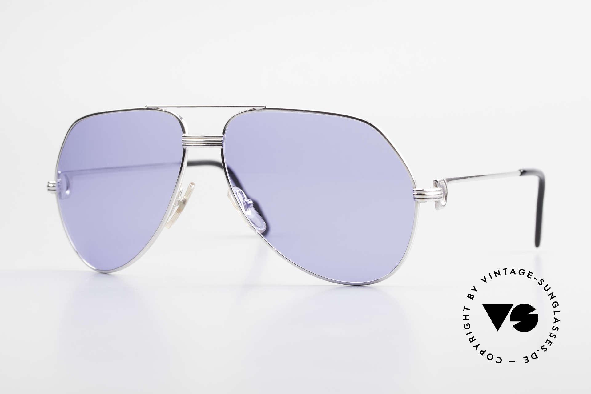 Cartier Vendome LC - L Sonderanfertigung Einzelstück, einzigartige CARTIER Vendome Sonnenbrille in Gr. 62°14, Passend für Herren