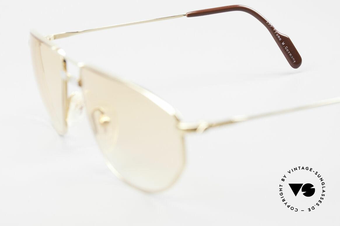 Alpina FM41 Stylische 80er Sonnenbrille, Größe: large, Passend für Herren und Damen