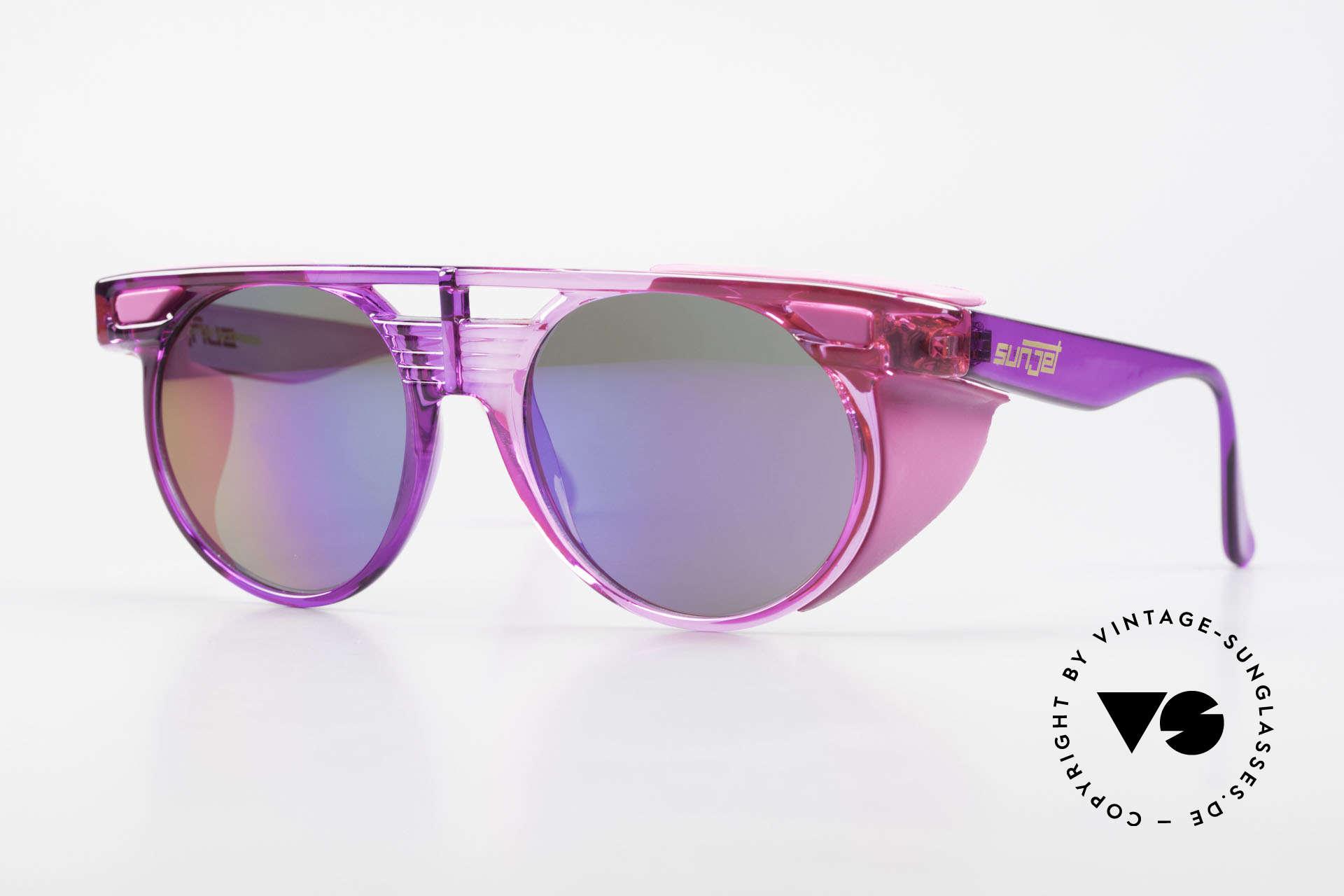 Carrera 5251 Runde Sonnenbrille Steampunk, markante 90er Jahre Carrera SUNJET Sonnenbrille, Passend für Herren und Damen