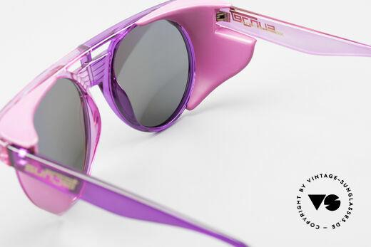 Carrera 5251 Runde Sonnenbrille Steampunk, abnehmbare Seitenblenden; pink verspiegelte Gläser, Passend für Herren und Damen