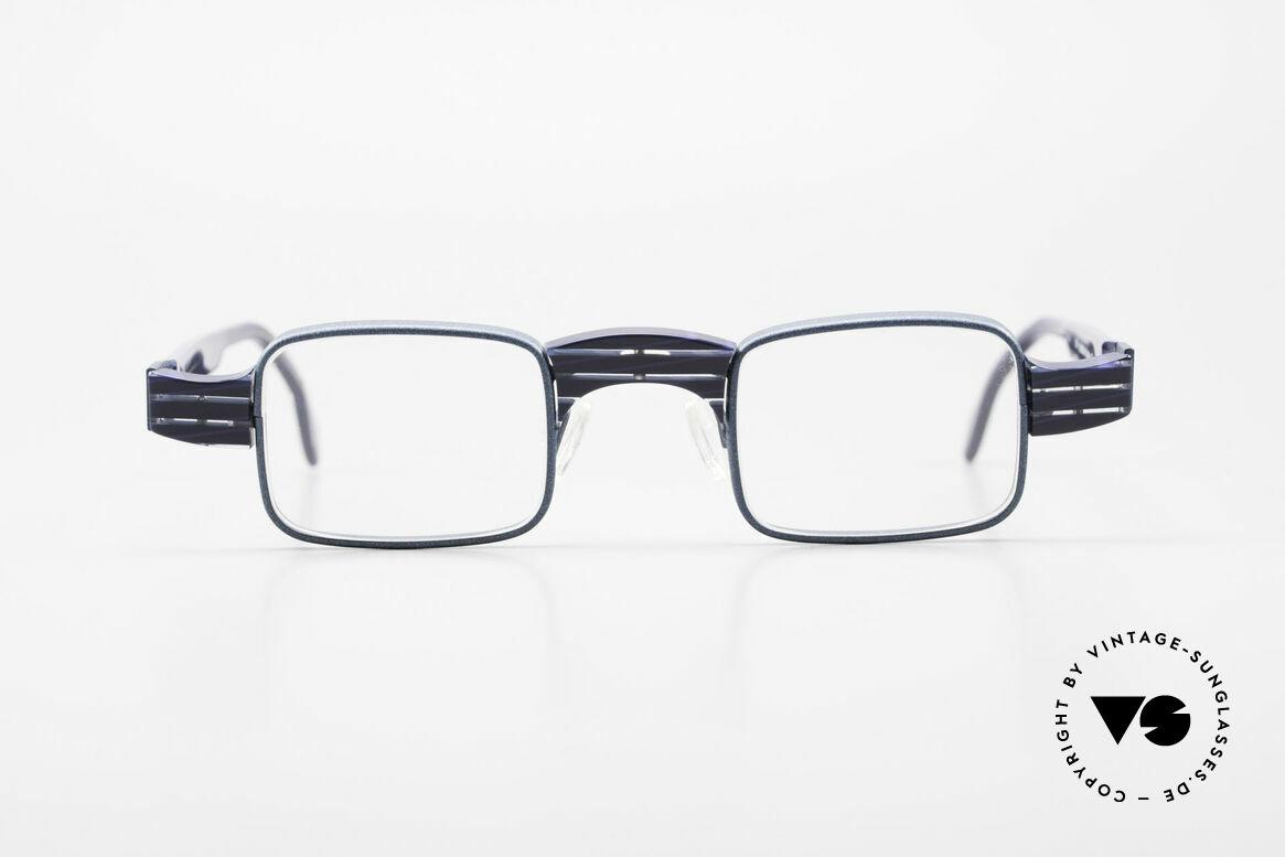 Theo Belgium Aphrodite Vintage Kombi Designerbrille, sehr dezente Kombination aus Kunststoff und Metall, Passend für Damen