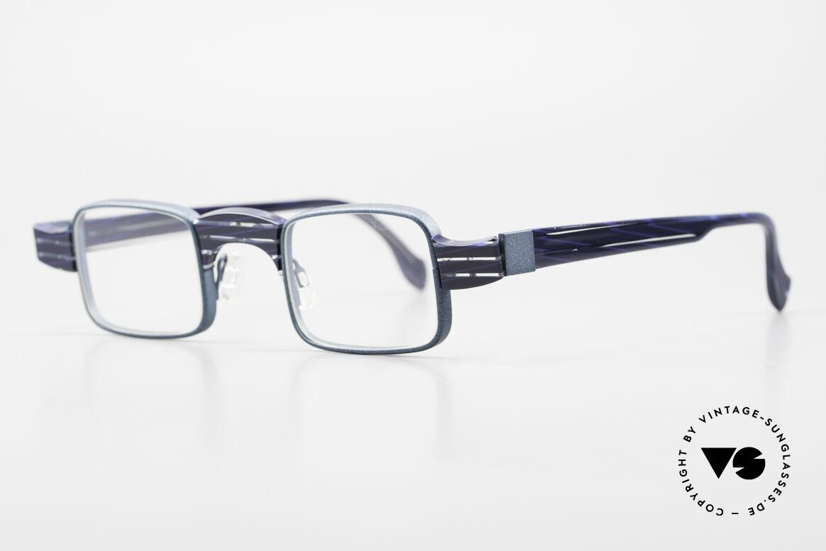 Theo Belgium Aphrodite Vintage Kombi Designerbrille, dafür mit großartigem Rahmenmuster; ein Hingucker!, Passend für Damen