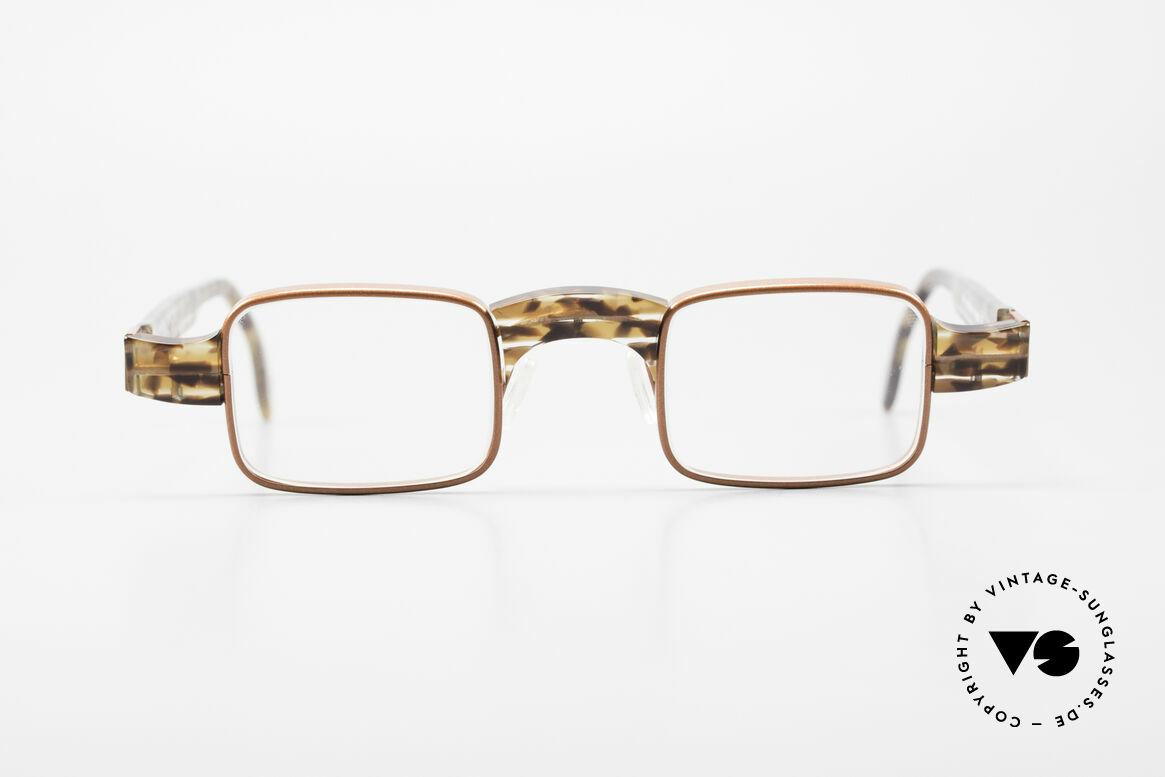 Theo Belgium Aphrodite Vintage Damen Designerbrille, sehr dezente Kombination aus Kunststoff und Metall, Passend für Damen