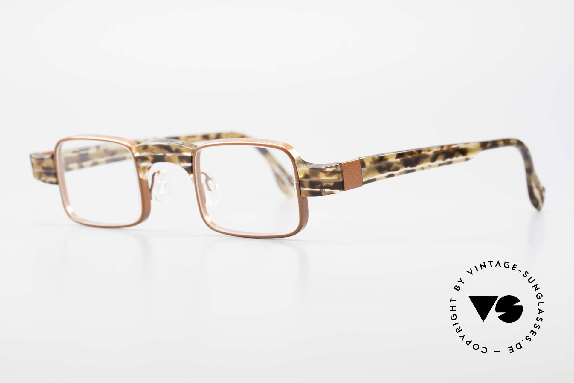 Theo Belgium Aphrodite Vintage Damen Designerbrille, dafür mit großartigem Rahmenmuster; ein Hingucker!, Passend für Damen