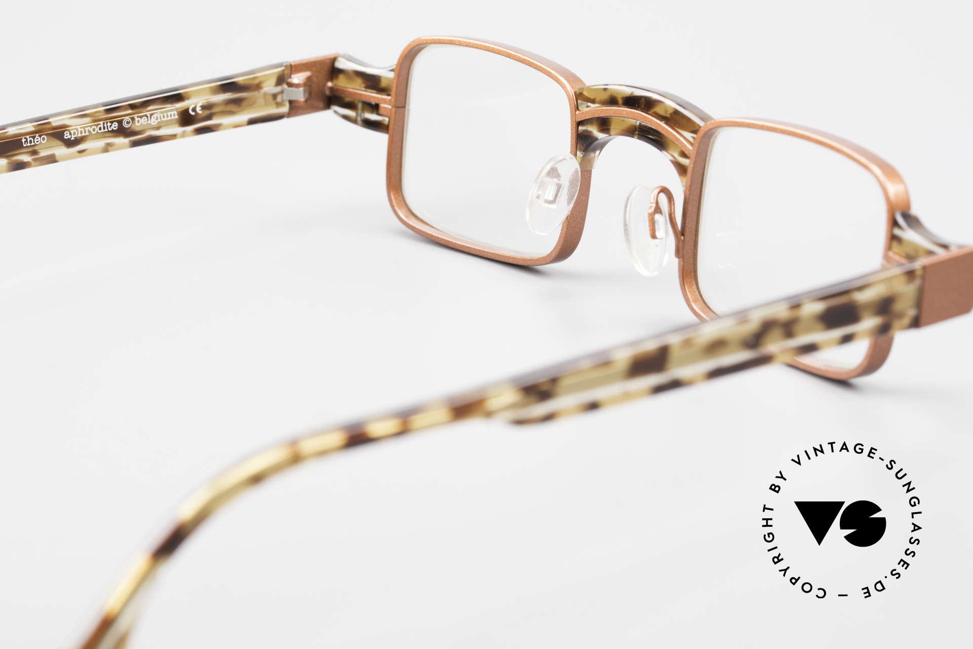 Theo Belgium Aphrodite Vintage Damen Designerbrille, ungetragenes Theo-Exemplar für die, die sich trauen, Passend für Damen