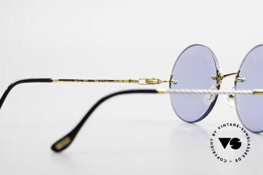 Fred Fidji Luxus Brille Rund Randlos 90er, 2nd hand in neuwertigem Zustand (inkl. Etui und Box), Passend für Herren
