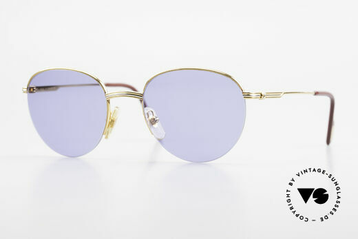Cartier Colisee Runde Luxus Sonnenbrille 90er Details