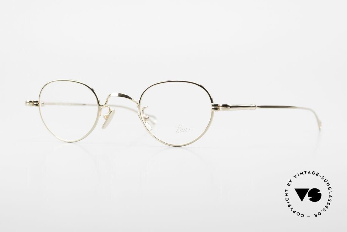 Lunor V 103 Zeitlose Fassung Vergoldet, LUNOR = ehrliches Handwerk mit Liebe zum Detail, Passend für Herren und Damen