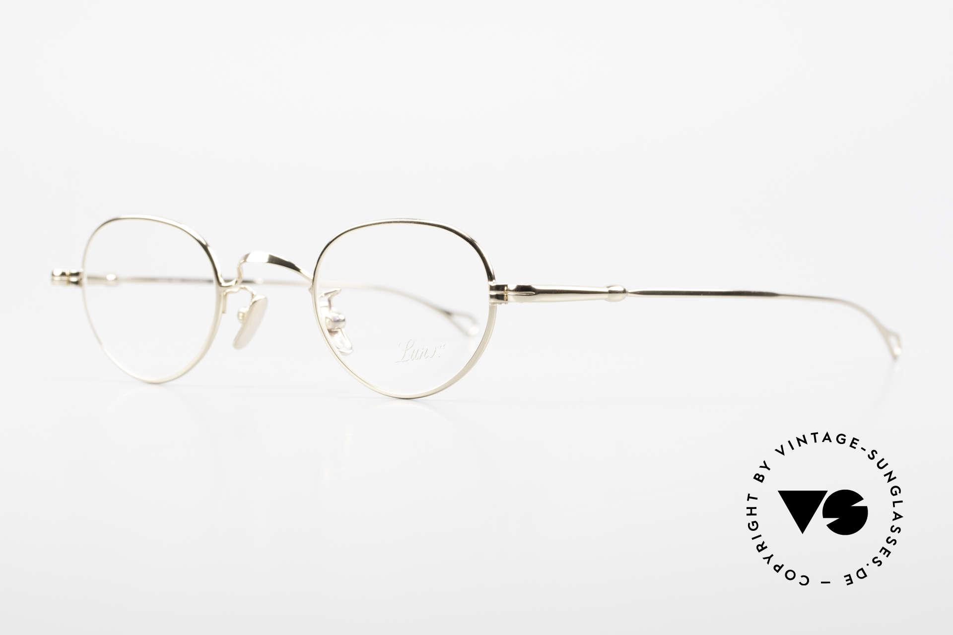 Lunor V 103 Zeitlose Fassung Vergoldet, Modell V103: sehr elegante und vergoldete Fassung, Passend für Herren und Damen