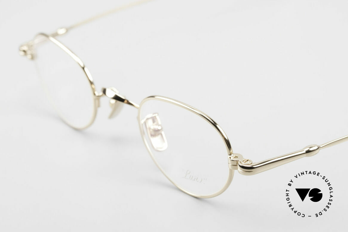 Lunor V 103 Zeitlose Fassung Vergoldet, aus der 2011er Kollektion in altbekannter Qualität, Passend für Herren und Damen
