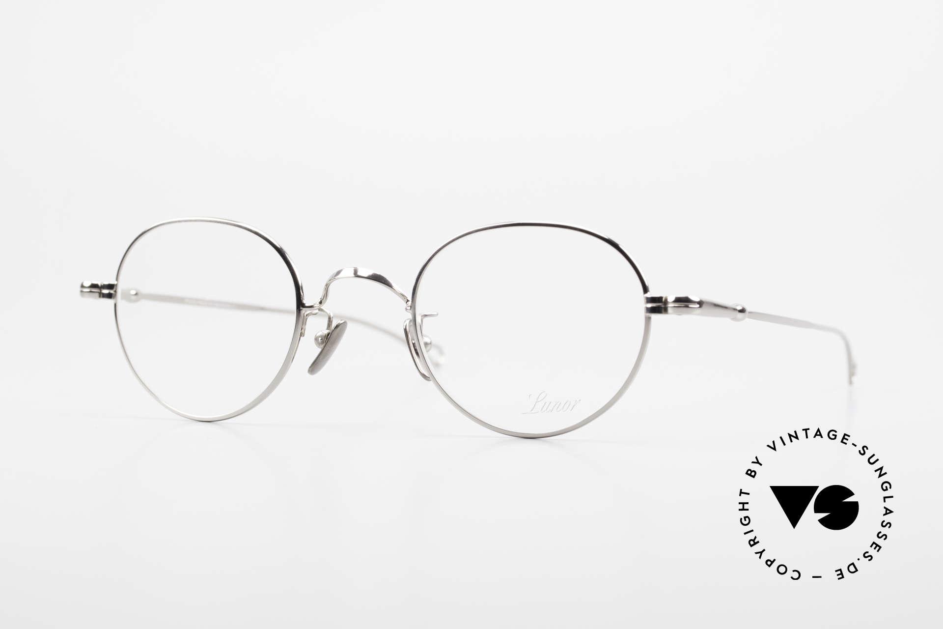 Lunor V 108 Pantobrille Platin Plattiert, LUNOR = ehrliches Handwerk mit Liebe zum Detail, Passend für Herren