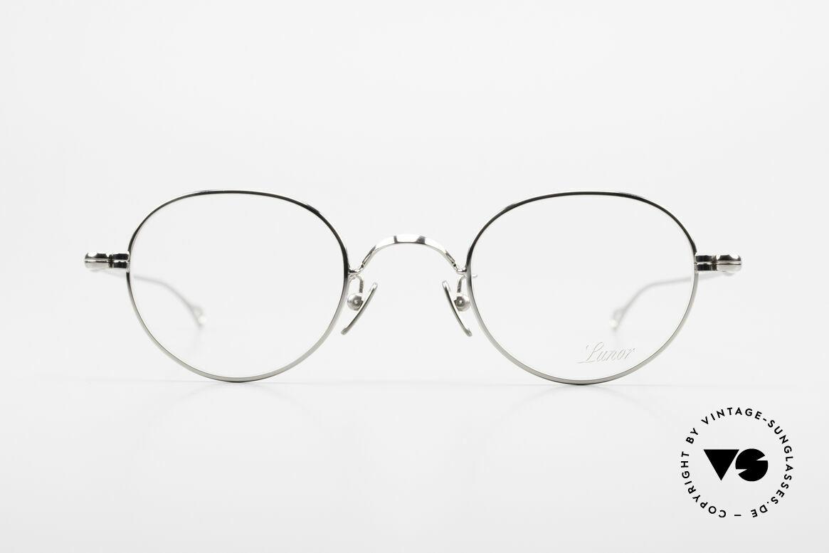 Lunor V 108 Pantobrille Platin Plattiert, ohne große Logos; stattdessen mit zeitloser Eleganz, Passend für Herren