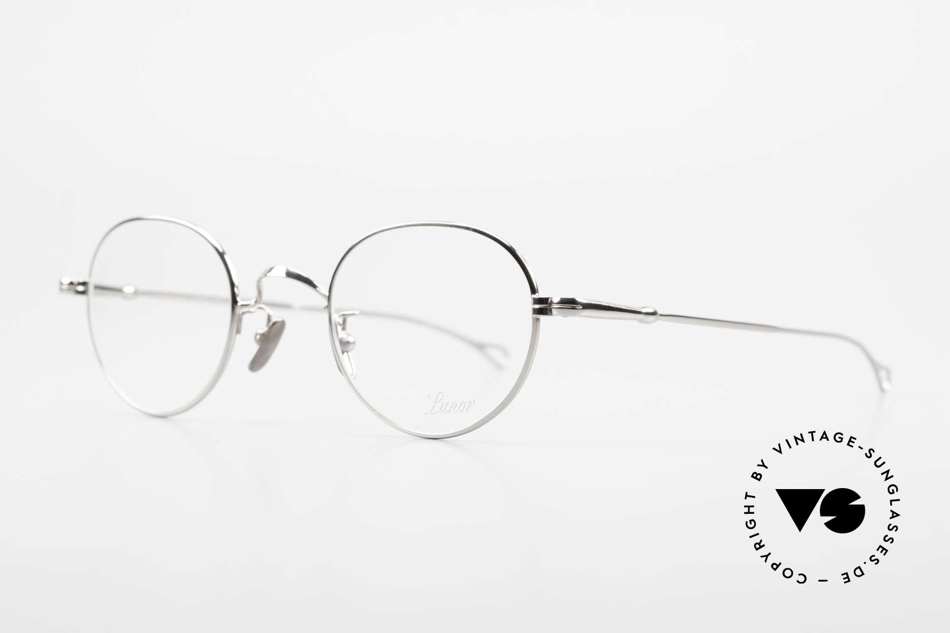 Lunor V 108 Pantobrille Platin Plattiert, Modell V 108: sehr elegante Pantobrille für Herren, Passend für Herren