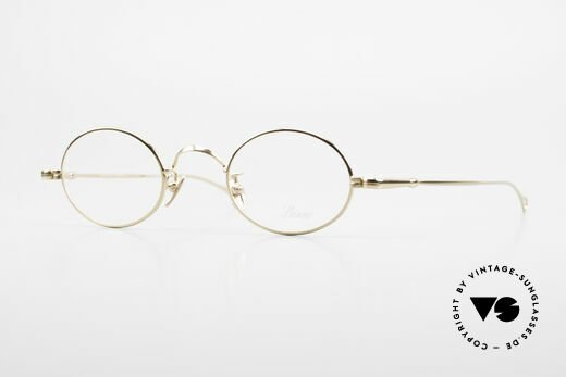 Lunor V 100 Ovale Brille 22kt Vergoldet Details